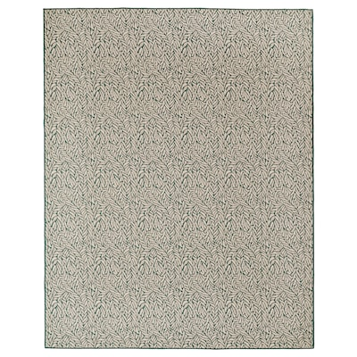SKELUND Rug flatwoven, in/outdoor, green-beige, 200x250 cm