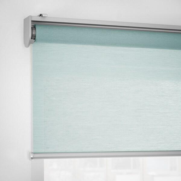SKOGSKLÖVER Roller blind, green, 100x195 cm