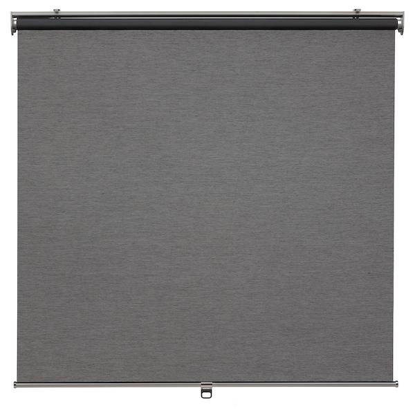 SKOGSKLÖVER Roller blind, grey, 120x195 cm