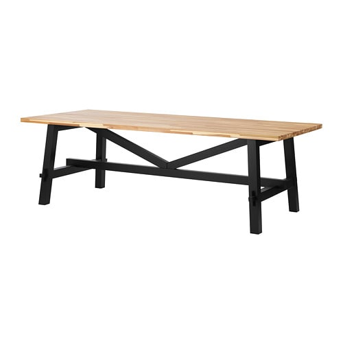Skogsta dining table ikea for Table 16 personnes