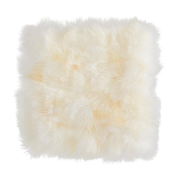 SKOLD Cushion cover, sheepskin/white, 50x50 cm