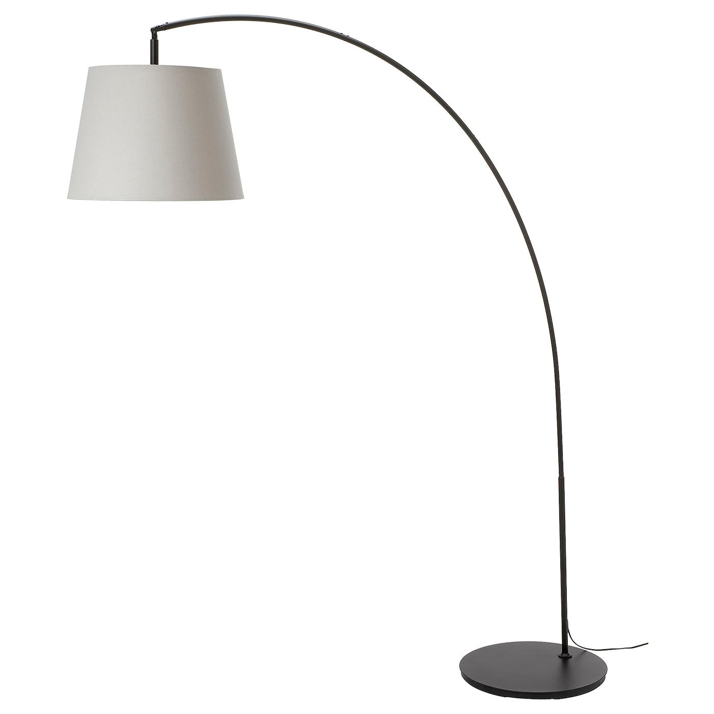 SKOTTORP / SKAFTET Floor lamp, arched - light grey - IKEA
