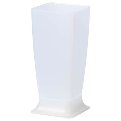 SKRAJ Umbrella stand, transparent, 55 cm