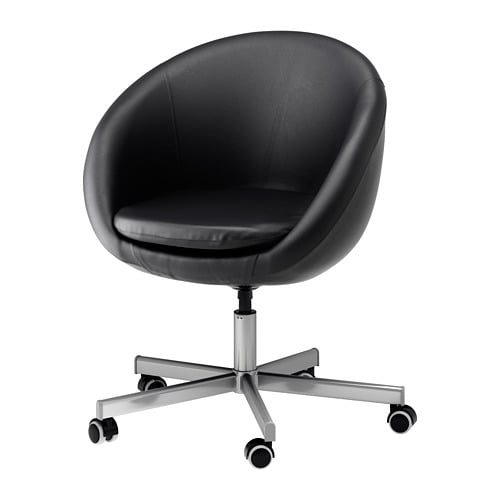 Skruvsta swivel chair idhult black ikea for Bureau stoel