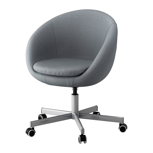 skruvsta swivel chair vissle grey ikea