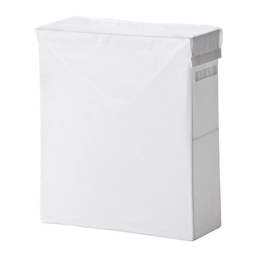 SKUBB Laundry bag with stand IKEA The laundry bag does not absorb moisture or odours from the laundry because it is made of polyester.