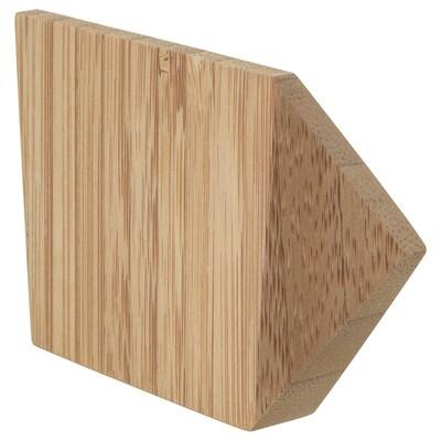 SKUGGIS Hook, bamboo, 9.8x5.7 cm