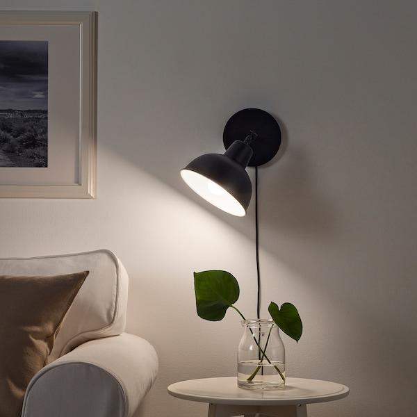SKURUP Table/wall uplighter, black