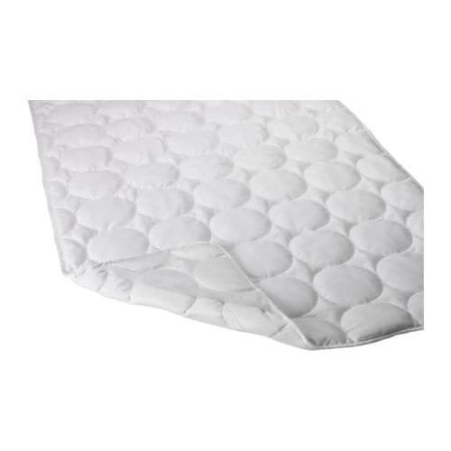 SKYDDA MJUK Mattress protector IKEA Protects the mattress against stains and dirt and prolongs its life.  Quick to remove, easy to wash.