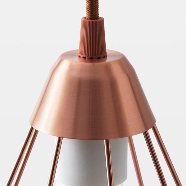 SLÄTTBO Pendant lamp, copper-colour, 14.5 cm