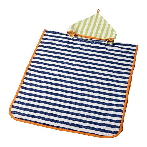 SLAPPA Towel with hood IKEA Cotton is soft against your baby's skin and highly water absorbent.