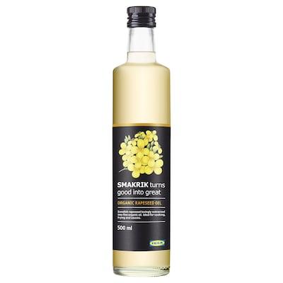 SMAKRIK Rapeseed oil, organic, 500 ml