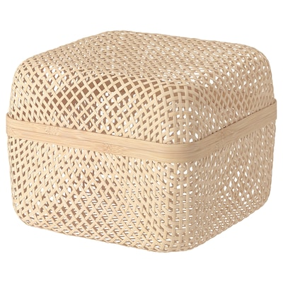 SMARRA Box with lid, natural, 30x30x23 cm