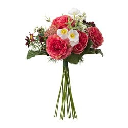 SMYCKA artificial bouquet, dark pink
