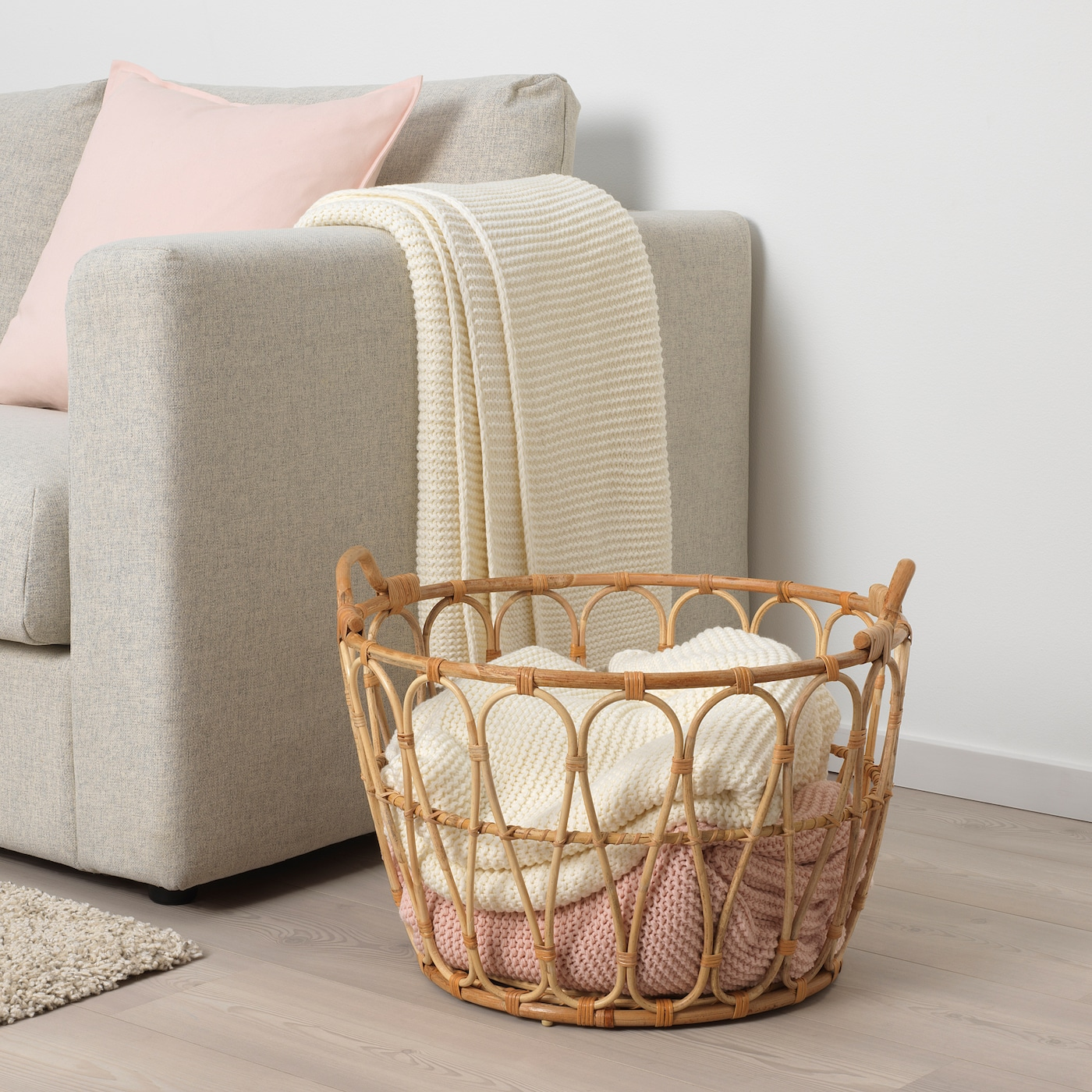 Picture of: Snidad Basket Rattan Ikea
