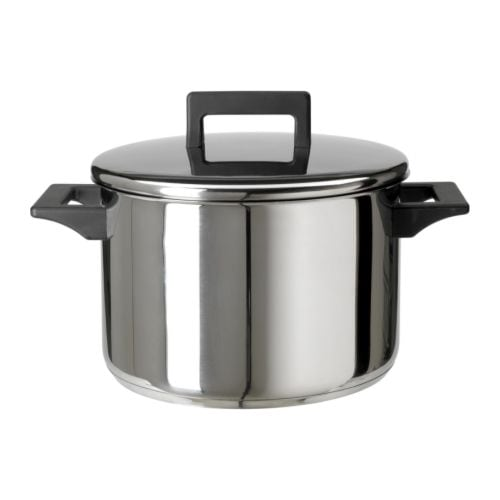 SNITSIG Pot with lid IKEA Works well on all types of hobs, including induction hob.
