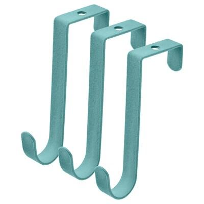 SNYGGING Hanger for door, turquoise