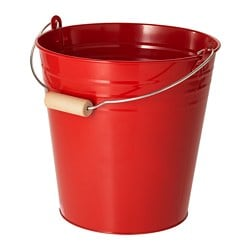 SOCKER bucket/plant pot, in/outdoor, red