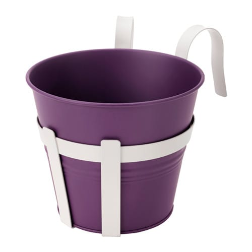 Socker Plant Pot With Holder In Outdoor Dark Lilac