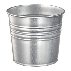 SOCKER plant pot, in/outdoor galvanised, galvanised