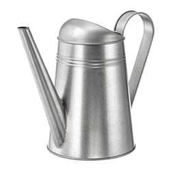 SOCKER watering can, in/outdoor galvanised, galvanised