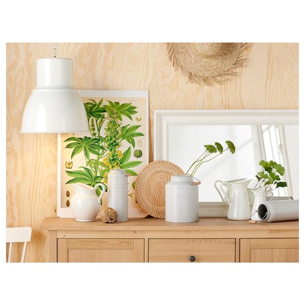 SOCKERÄRT Vase, white, 16 cm
