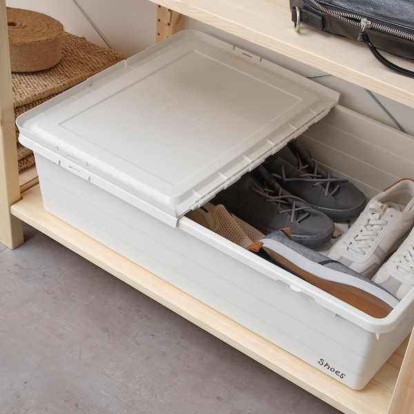 SOCKERBIT storage box with lid white 77 cm 50 cm 19 cm 55 l