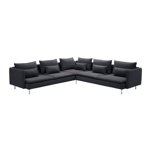 SÖDERHAMN Corner sofa 2+2 IKEA The various sections of the seating series can be connected together in different combinations or used separately.