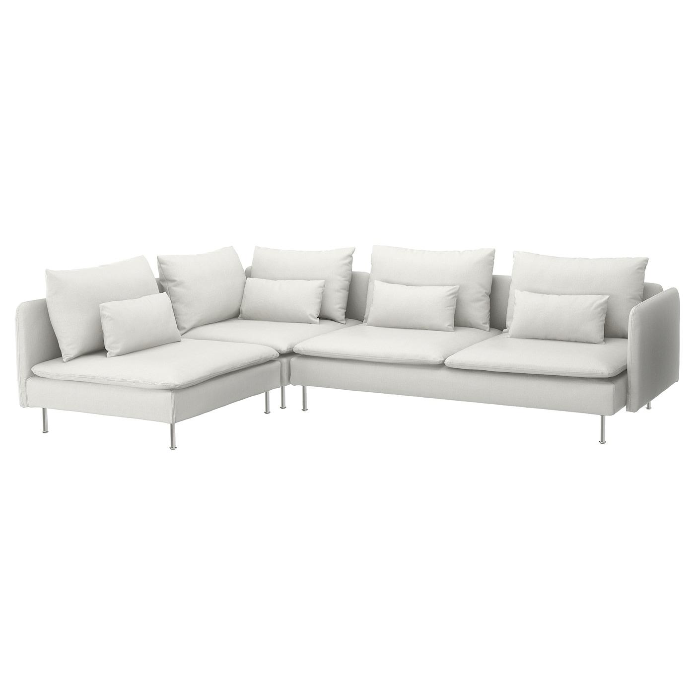 SÖDERHAMN Corner sofa, 4-seat, with open end/Finnsta white ...
