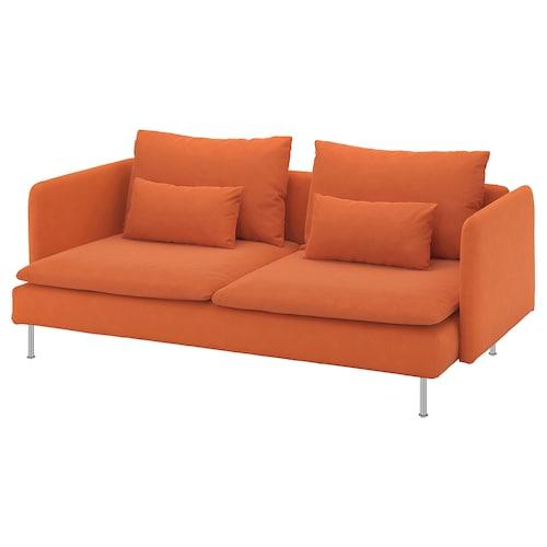 SÖDERHAMN 3-seat sofa Samsta orange 83 cm 69 cm 198 cm 99 cm 14 cm 6 cm 186 cm 70 cm 39 cm