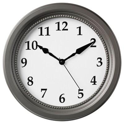 SÖNDRUM Wall clock, grey, 35 cm