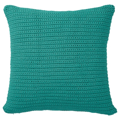 SÖTHOLMEN Cushion cover, in/outdoor, turquoise, 50x50 cm