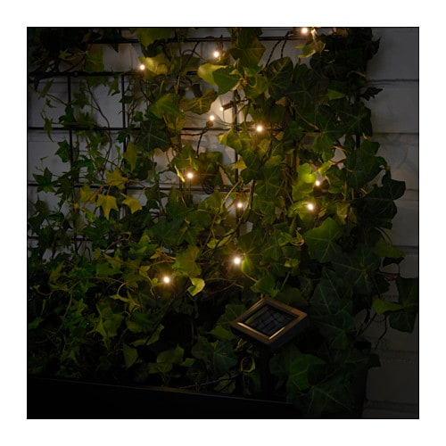 SOLARVET LED lighting chain with 12 lights IKEA You can personalise the lighting chain to match the season or your style.