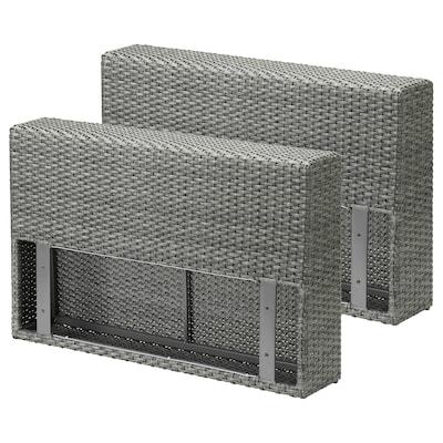 SOLLERÖN armrest section, outdoor dark grey 18 cm 82 cm 53 cm 2 pack