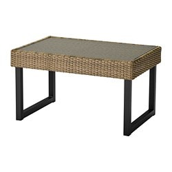 SOLLERÖN coffee table, outdoor, anthracite, brown
