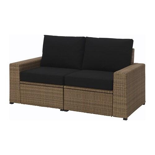 Soller 214 N 2 Seat Sofa Outdoor Brown Kungs 246 Black Ikea