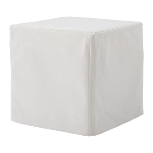 SOLSTA PÄLLBO Footstool IKEA Easy to keep clean; removable, machine washable cover.  Functions as an extra seat and footstool.