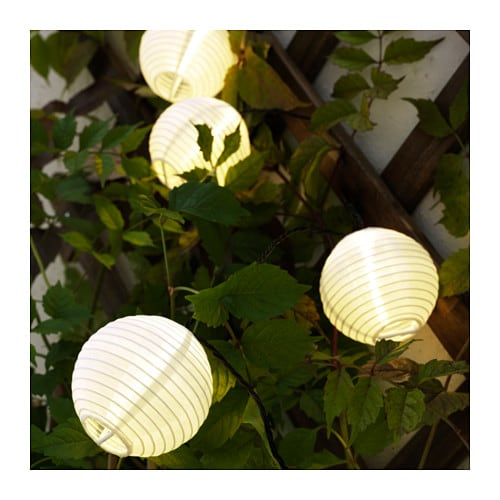 SOLVINDEN Decoration for lighting chain, globe white globe white -