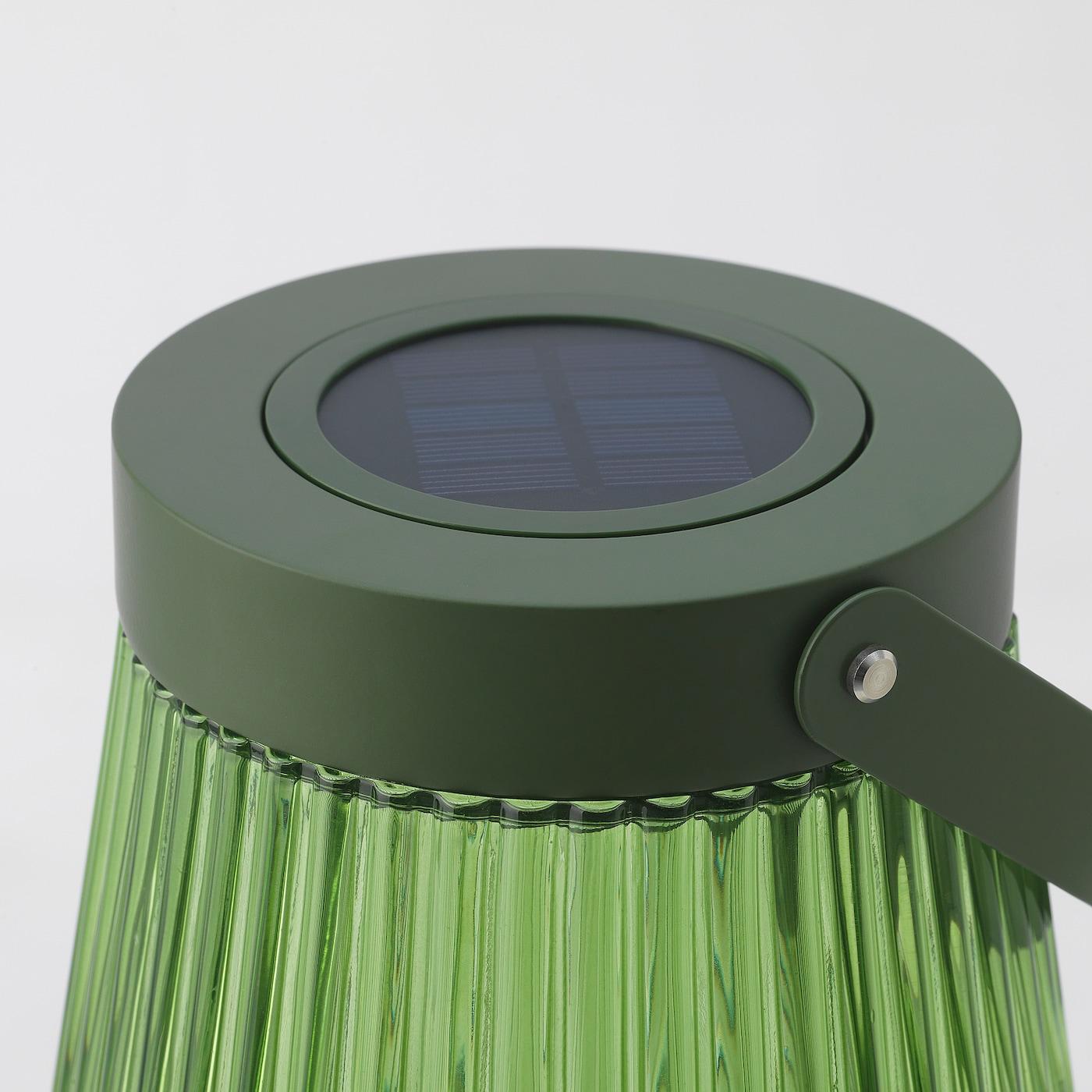 SOLVINDEN LED solar-powered floor lamp - outdoor, glass ...