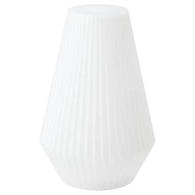 SOLVINDEN LED solar-powered floor lamp, outdoor/plastic white
