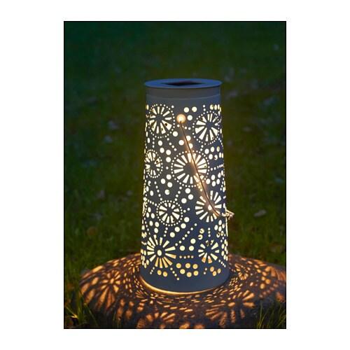 SOLVINDEN LED solar-powered floor lamp, cone-shaped white cone-shaped white 45 cm