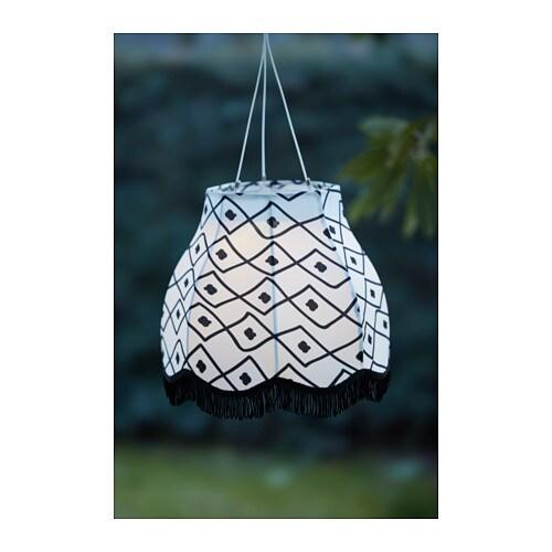 SVARTRÅ LED string light with 12 lights - black, outdoor ...