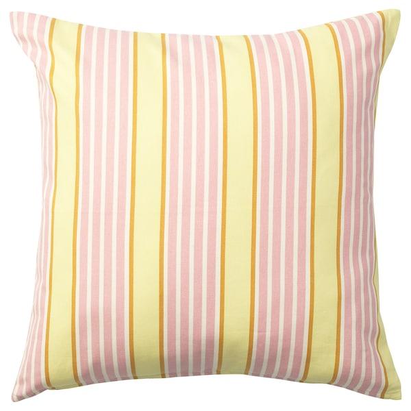 SOMMAR 2020 Cushion cover, light yellow/multicolour, 50x50 cm