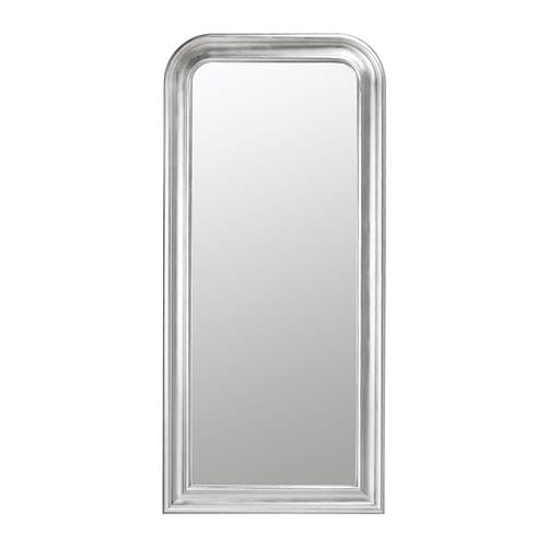 SONGE Mirror IKEA Provided with safety film - reduces damage if glass is broken.  Full-length mirror.
