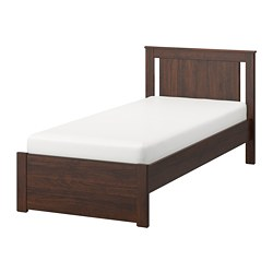 SONGESAND bed frame, brown, Luröy