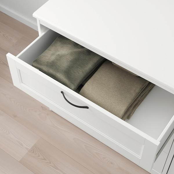 SONGESAND Chest of 6 drawers, white, 161x81 cm