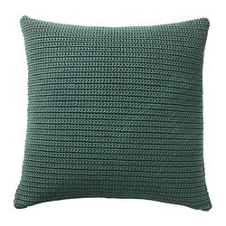 SÖTHOLMEN cushion cover, in/outdoor, dark green