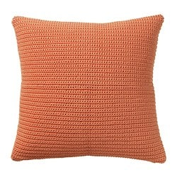 SÖTHOLMEN cushion cover, in/outdoor, orange