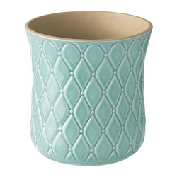 SPARRISKNOPP plant pot, light blue