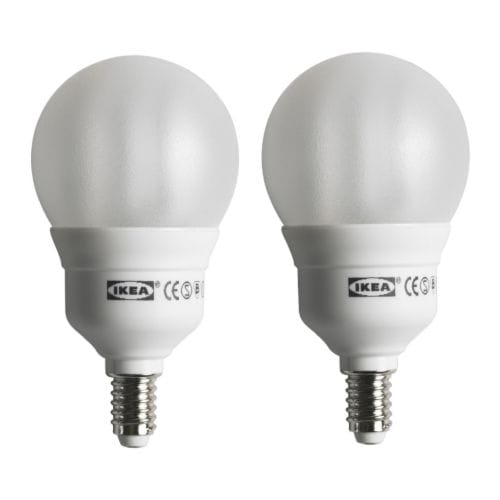 SPARSAM Low-energy bulb E14 IKEA Energy efficient; has up to 10 times longer life than an incandescent bulb.